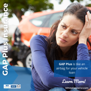 GAP Pus is like an airbag for your vehicle loan.